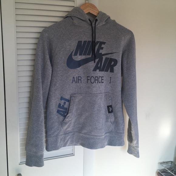 3dc3a04b Grey and silver Nike Air Force 1 Hoodie. M_5a5a5dff36b9de1ac262548f